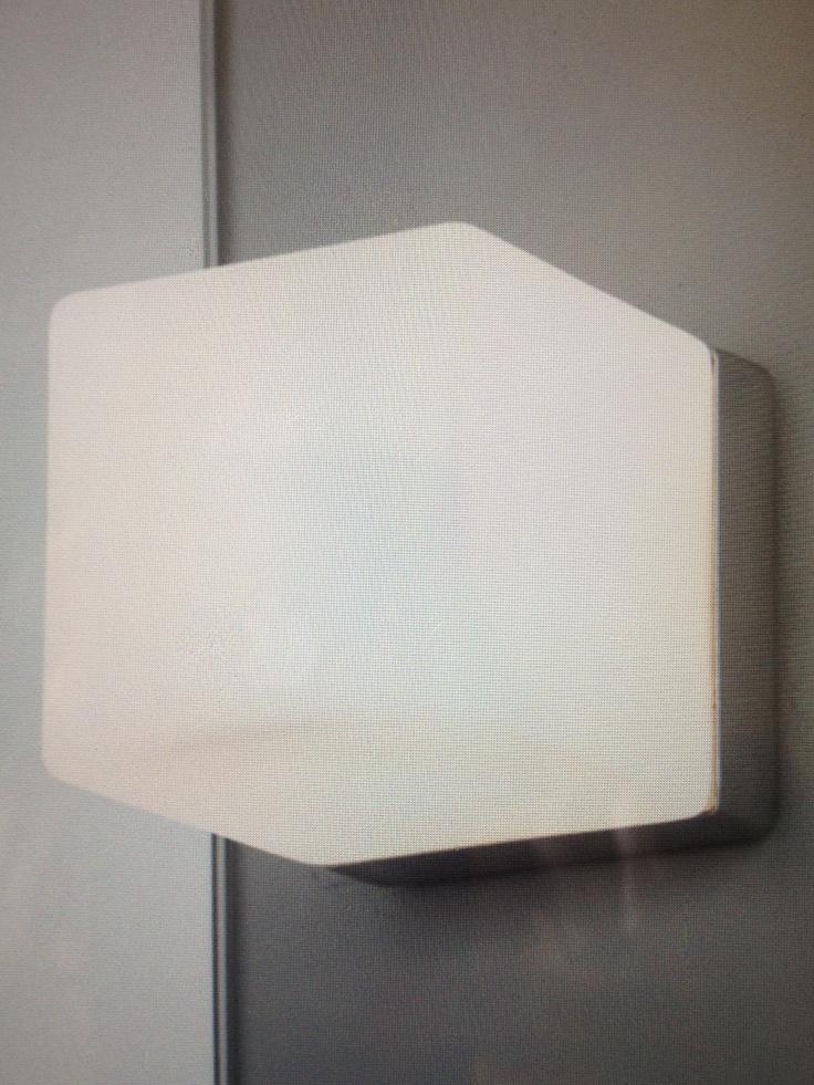 Cube bathroom wall light sparks ax0635