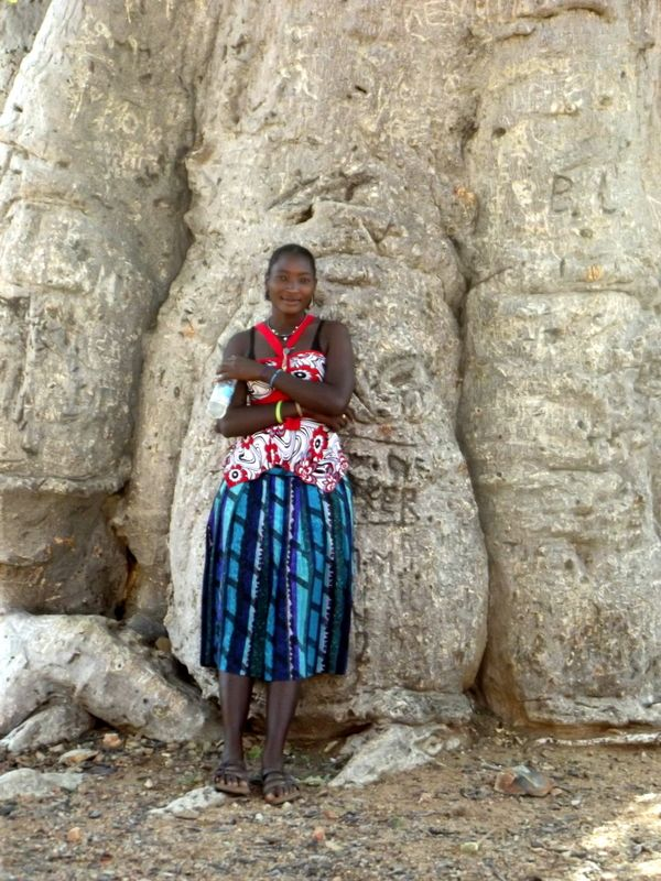 village beauty and baobab, Kaokaveld, namibia
