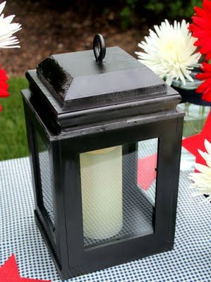 Using picture frames to make a lantern... genius!  These would be great out on the porch.