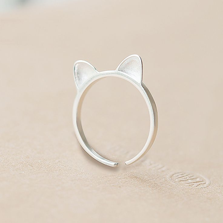 Europe tiny cat rings sterling silver jewelry Cute animal of cat face rings for women sterling-silver-jewelry for lady gift