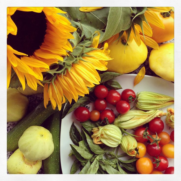 Summer's bounty - fresh produce from our friends garden.