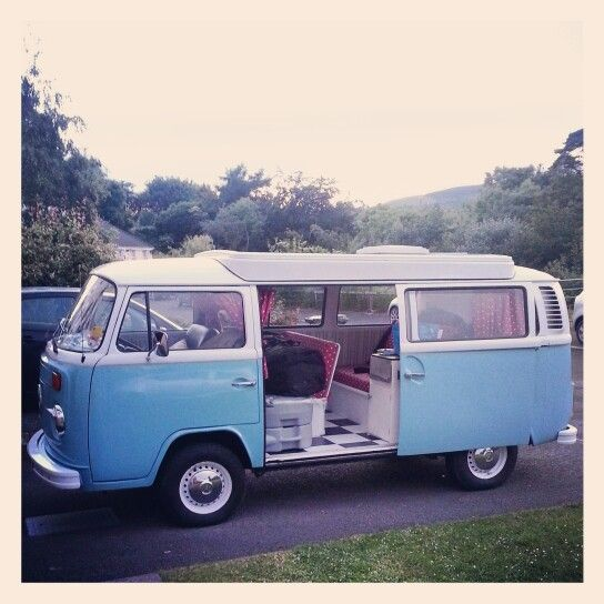 My 1974 VW Bay before setting off for Glastonbury 2014