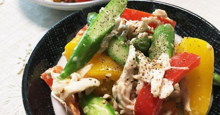 彩り◎アスパラとパプリカのサラダ by 夢みるきりんさん [クックパッド] 簡単おいしいみんなのレシピが269万品