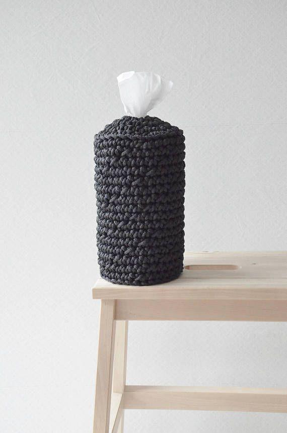 Black kitchen towel holder tissue box cover Scandinavian