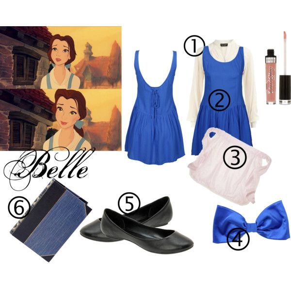 DIY Halloween Costume || Belle from Beauty and the Beast, created by littlelostsomewheregirl on Polyvore