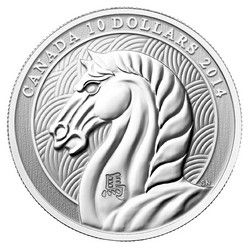 Royal Canadian Mint $10 2014 Fine Silver Coin - Year of the Horse $39.95 #coin #coins #silver #horse #lunar #chinese #yearofthehorse