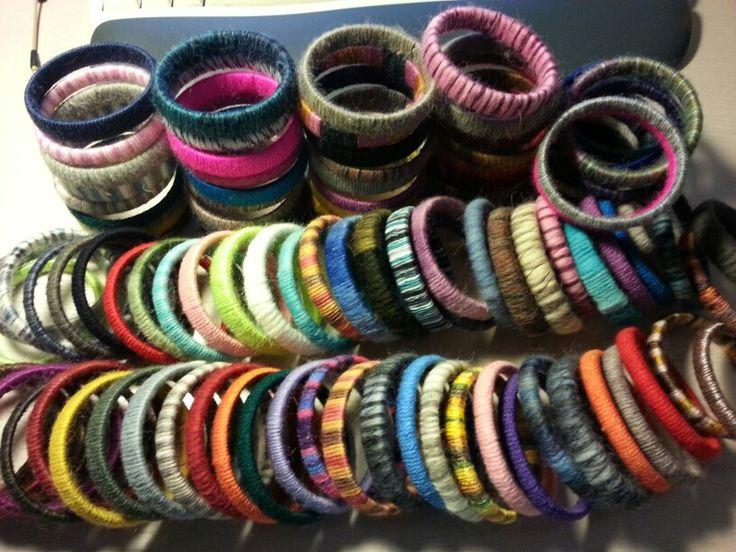 Braccialetti lana