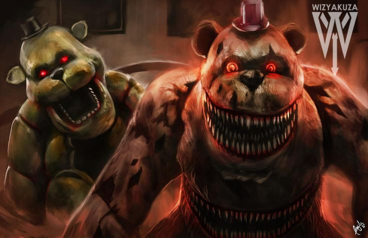 Five Nights at Freddy's 4 - Golden Freddy & Nightmare Fredbear - 11 x – Wizyakuza.com