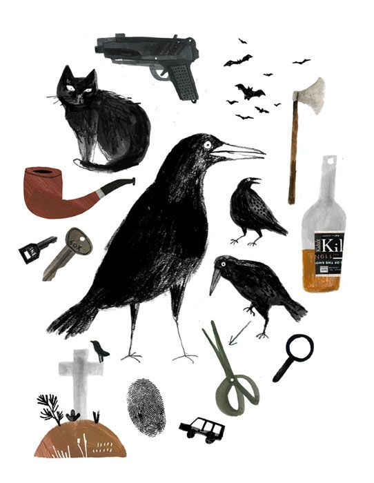 Illustration of literary magazine cover.