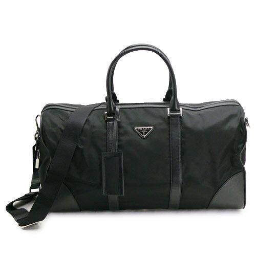 プラダスーパーコピー ボストンバッグ PRADA 2WAYバッグ 旅行カバン テスート ナイロン ブラック VS0350
