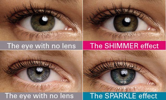 The Acuvue Define lenses have a pigment inside that helps to define the border around the iris, known as the limbal ring.