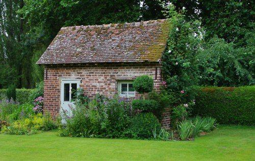 17 best ideas about cottage garden sheds on pinterest for Brick garden shed designs