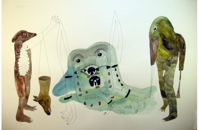 Erik Jerezano | A Mixture of Possibilities |Encre et aquarelle sur papier (ink and watercolour on paper) |2011