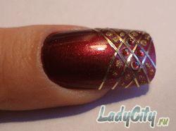 Дизайн ногтей от LadyCity.ru - золотой узор
