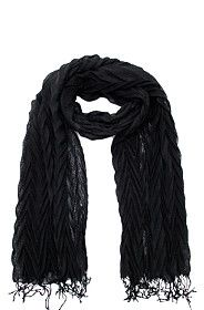 FRILLY PLEATED SCARF