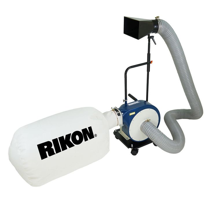 Rikon 60-105 Portable Dust Collector with Wall Mount