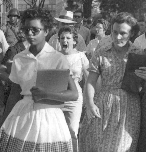 Little Rock, Arkansas, 1957. Desegregation.