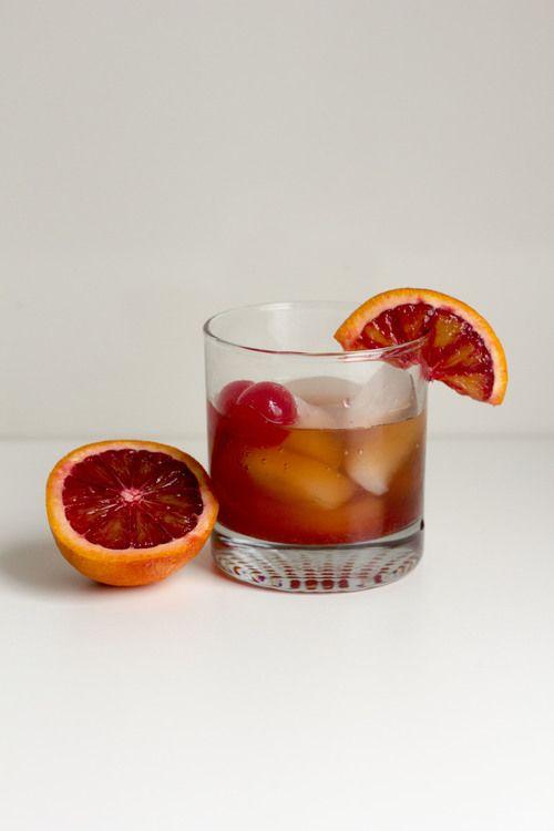 Blood Orange Old Fashioned for #CocktailDay by @Kelly Teske Goldsworthy Vass l kellybakes.com
