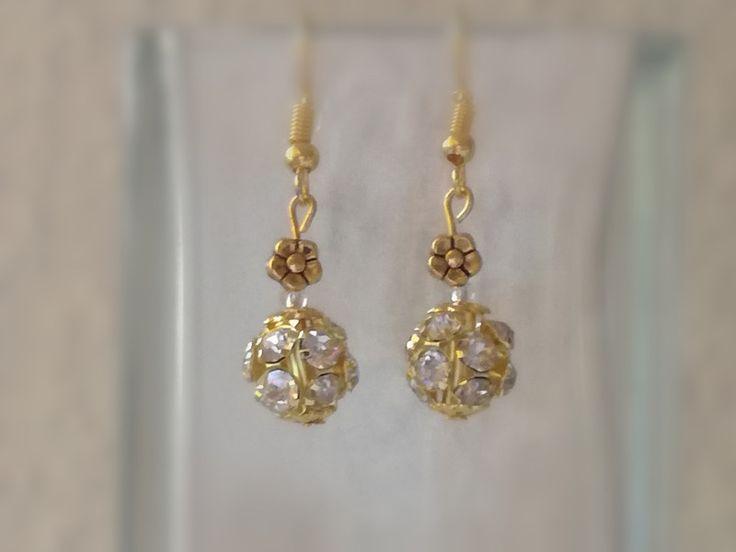 Weiteres - Ohrringe Strass Shamballa Perle Ohrhänger gold - ein Designerstück von Tines-creative-Welt bei DaWanda