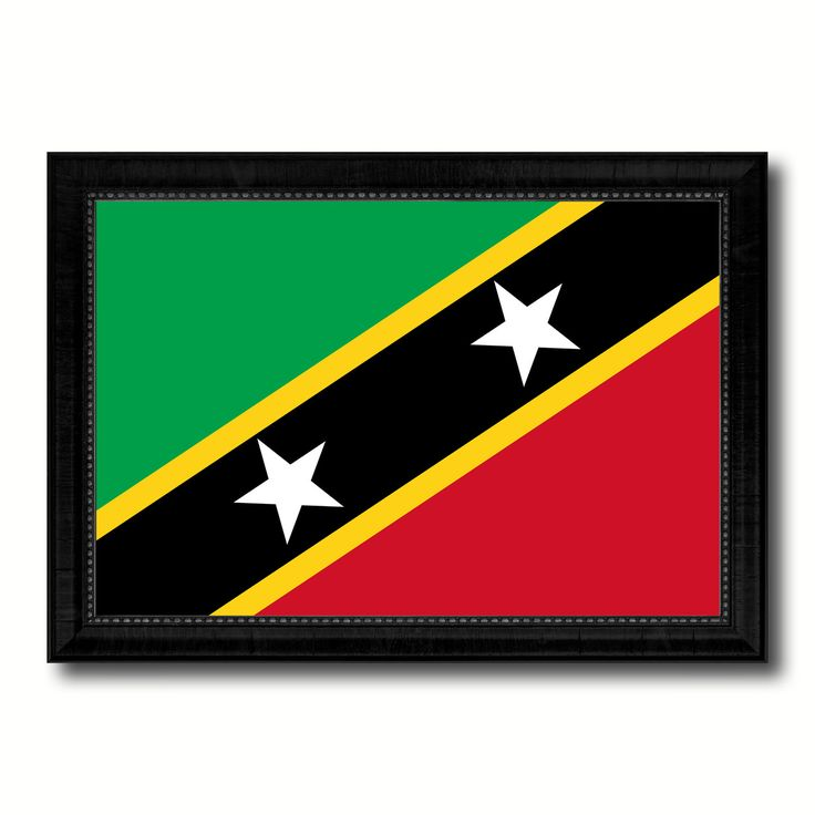 Saint Kitts and Nevis Country Flag Canvas Print, Picture Frame Home Decor Gifts Wall