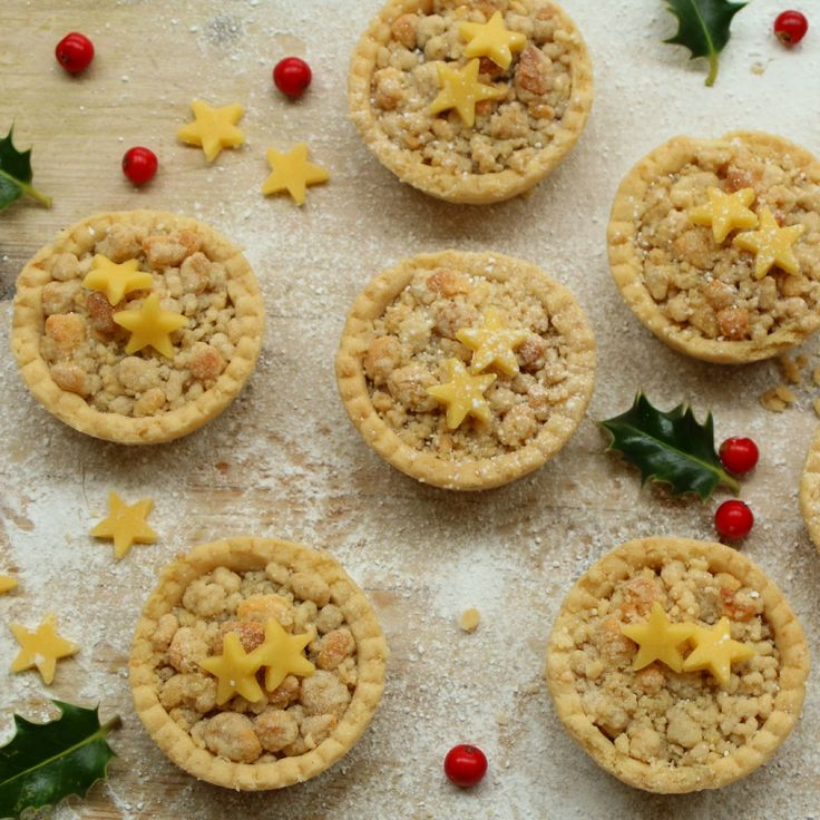 These scrumptious melt in the mouth marzipan crumble mince pies are made with a buttery almond pastry and topped with marzipan crumble.