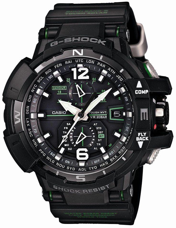 Casio G-Shock Mens GWA1100-1A3CR Gravitymaster Atomic Tough Solar Watch