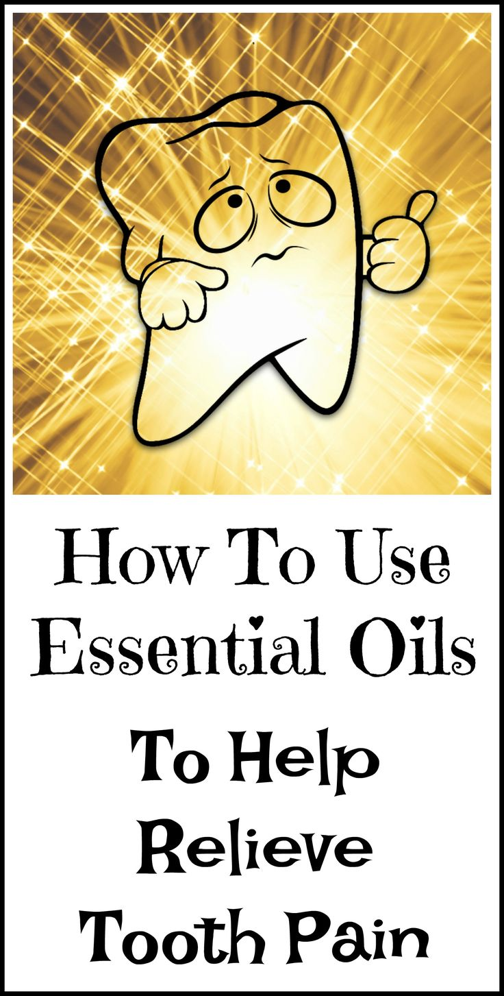 How to use essential oils for severe tooth pain.