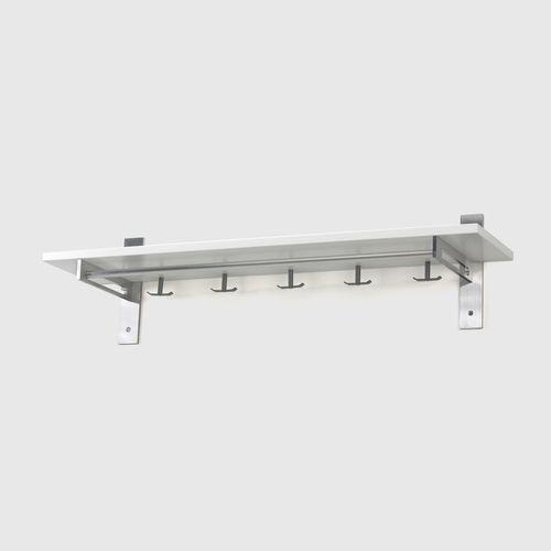 HALLHYLLA 7  W 120 x H 32 x D 30 cm  Aluminium, Oak / Black Oak / White