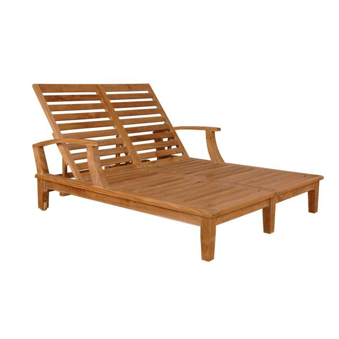 Brianna Double Reclining Teak Chaise Lounge Double Sun Lounger Sun Lounger Double Chaise Lounge