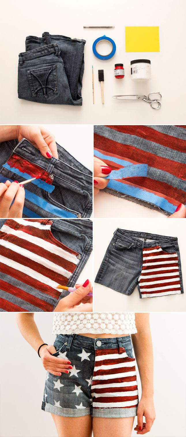 YES! Love these oh-so-patriotic cutoffs.