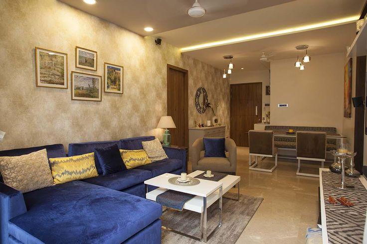 Beige Marble Flooring in Living