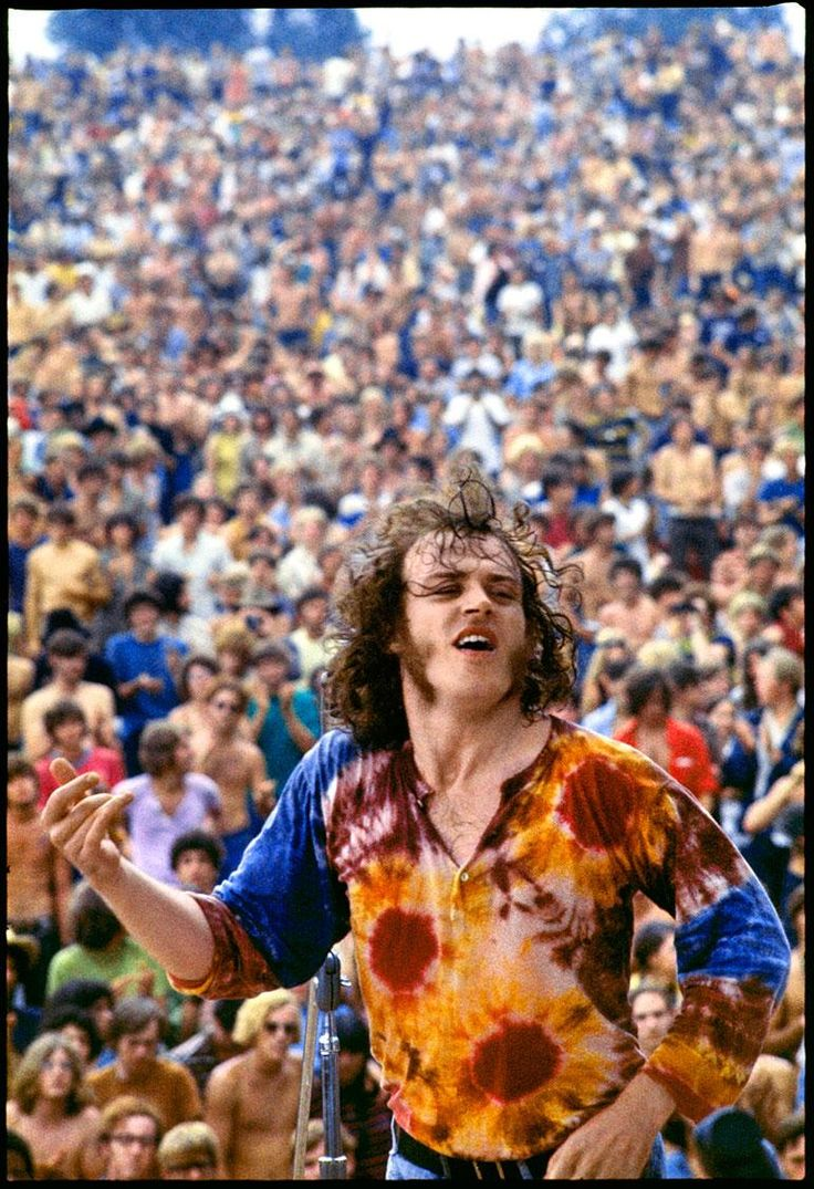 Joe Cocker At Woodstock, 1969.