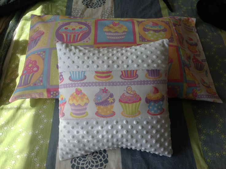Pillow and cushion for a sweet little girl