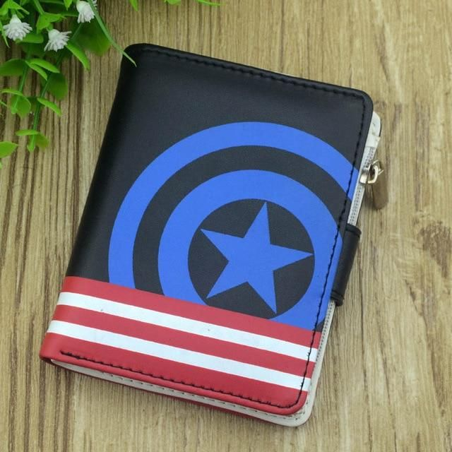 ae088833afa6 Fairy Tail Anime Leather Wallet Black Color Button Purse Women Men ...