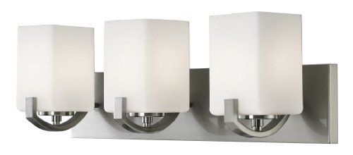 Canarm IVL422A03BN Palmer 3-Light Bath Vanity, Brushed Nickel Canarm,http://www.amazon.com/dp ...