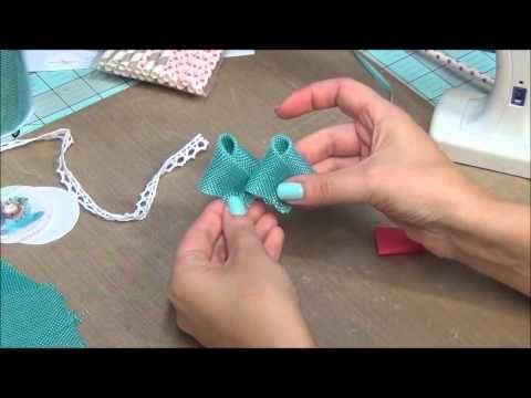 Burlap Flower on the Straw tutorial - YouTube