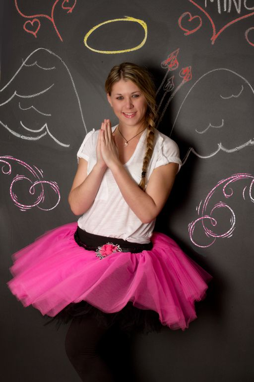 """""""Chalkboard Cupid"""" BRAND NEW Chalkboard Wall at our studio, Portrait Creations located in Charlotte, NC."""