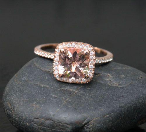Las 25 mejores ideas sobre Rose Gold Morganite Ring en Pinterest