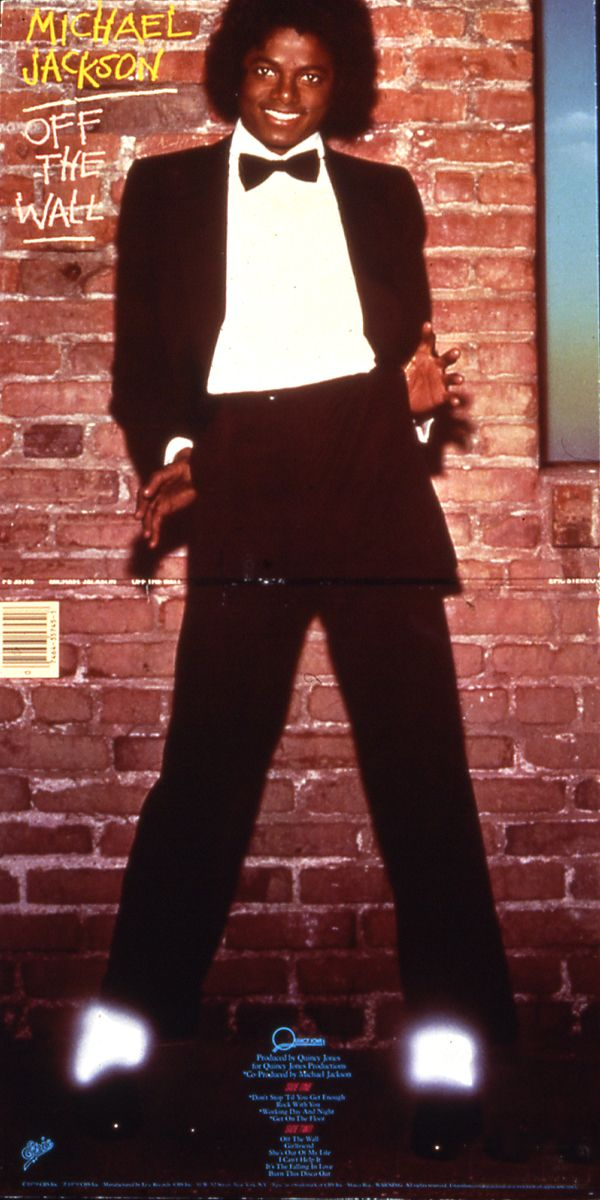 Mike Salisbury's full-sleeve album artwork for Michael Jackson's Off the Wall album