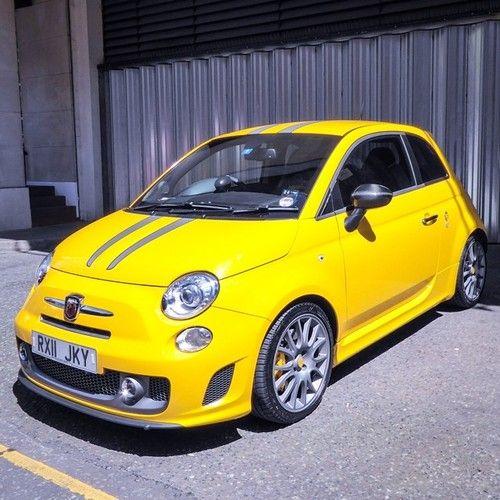 Fiat 500 ABARTH in yellow #fiat500 #abarth