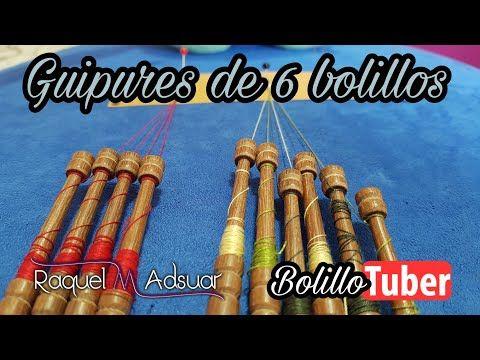 Guipures con 6 bolillos - Bolillotutorial Raquel M. Adsuar Bolillotuber - YouTube