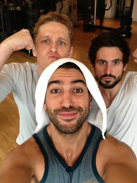 Matthias Schweighöfer, Elyas M' Barek & Tom Beck :) love these german actors. they're soooo funny