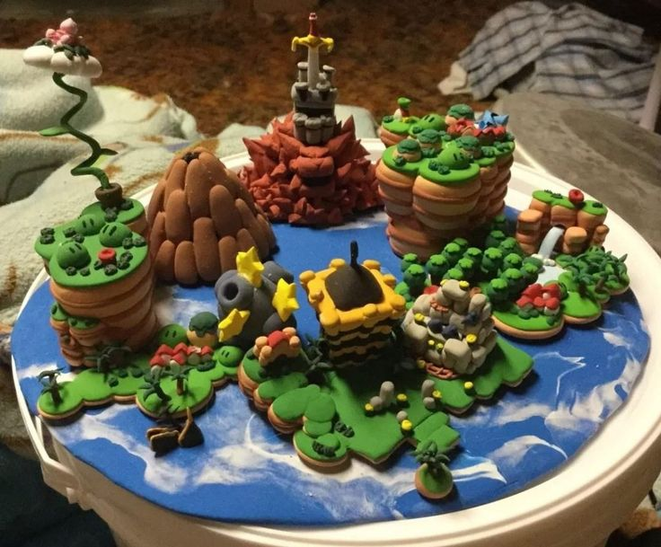 Nintendo Super Mario RPG World Map Custom Figure One of a Kind SNES - Video Game Auctions