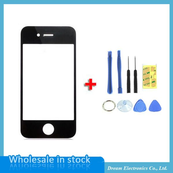 High Quality Black White Front Glass Screen For iPhone 4 4S 4G Replacement Outer Lens for Lcd Screen Digitizer with Opening Tool #>=#>=#>=#>=#> Click on the pin to check out discount price, color, size, shipping, etc. Save and like it!