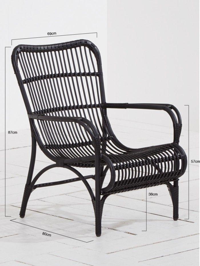 Intenso Napoli lounge tuinstoel Black van Intenso Furniture