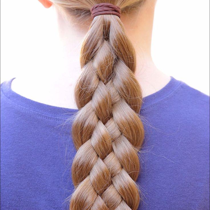 Коса из пяти прядей в картинка