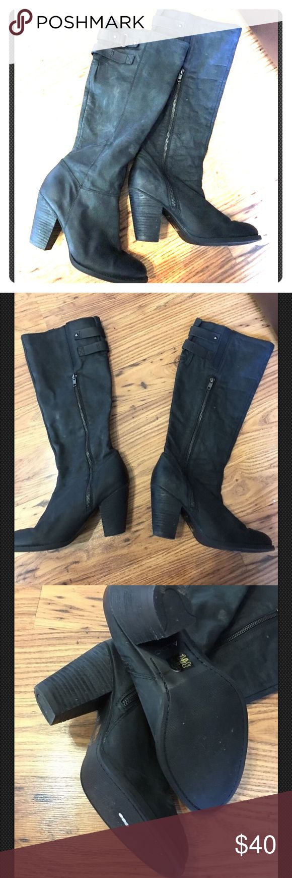 Aldo boots size 8.5 Black high heeled Aldo boots. Size 8.5. Good condition! Aldo Shoes Heeled Boots
