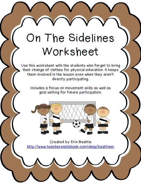 Worksheets For Gym Class : Best pe worksheets images on pinterest school