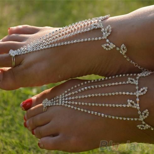 1PC Barefoot anklets Sandals Foot Jewelry Beach  Dancing  Wedding Ankle Bracelet Chain  09HH-in Anklets from Jewelry on Aliexpress.com   Alibaba Group