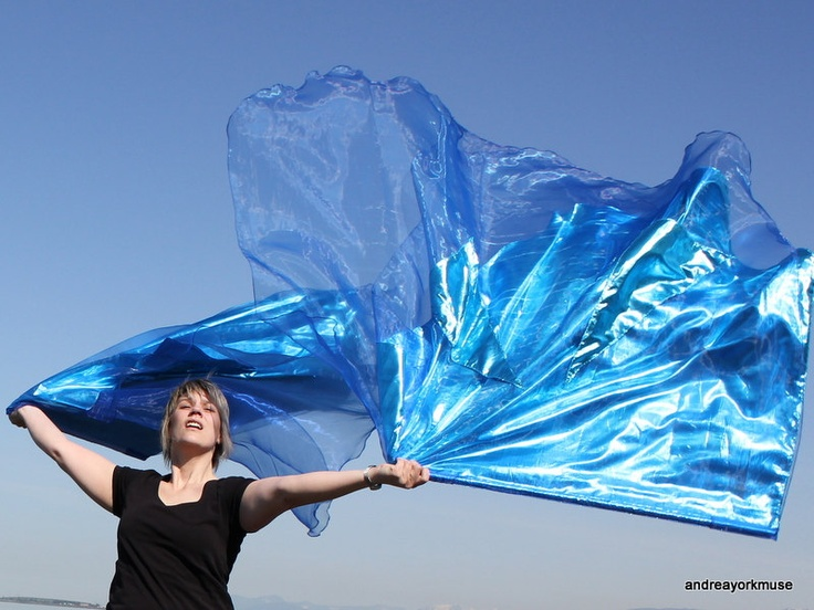 KNOWLEDGE of the GLORY Angel Wings Worship FLAGS, organza  lamé triple layer. $100.00, via Etsy.